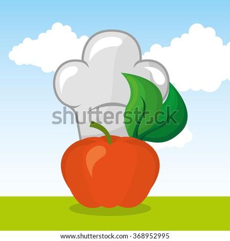 vegan food design  - stock vector