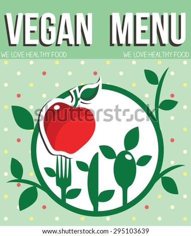 vegan menu - stock vector