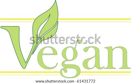 vegan sign - stock vector