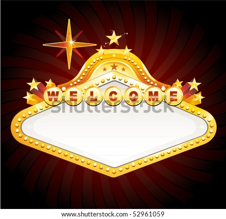 Vegas banner sign - stock vector