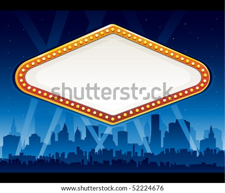 Vegas city at night - stock vector