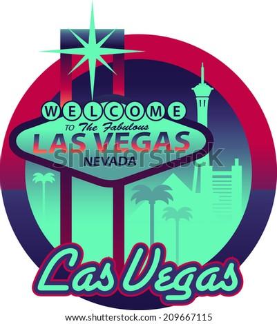 Vegas Sign - stock vector