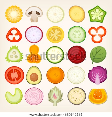 Circle Shaped Food Mushroom Shape ...