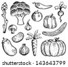 Vegetable theme collection 2 - eps10 vector illustration. - stock vector