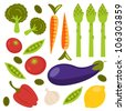 Vegetables set - stock vector