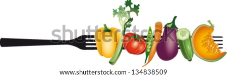 Vegetarian Diet - stock vector