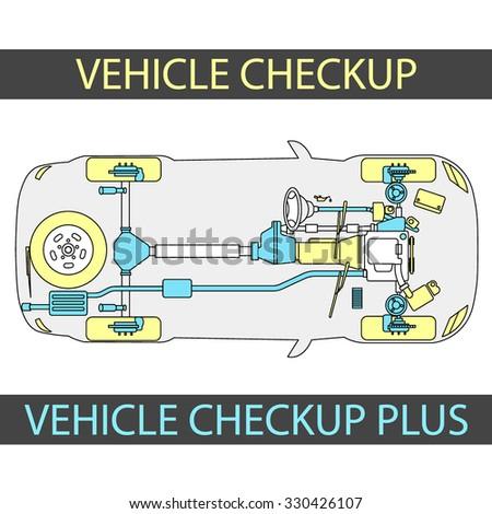 Vehicle Check Up Inspection Diagramm Car Vectores En Stock 330426107 ...