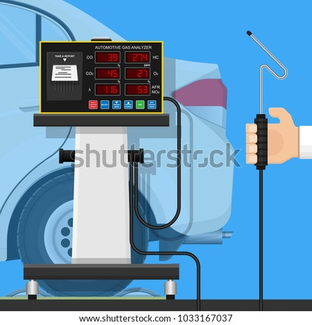 Vehicle emission testing car air gases stock vector for Motor vehicle emissions test