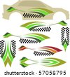 Vehicle Graphics, Stripe : Vinyl Ready - stock vector