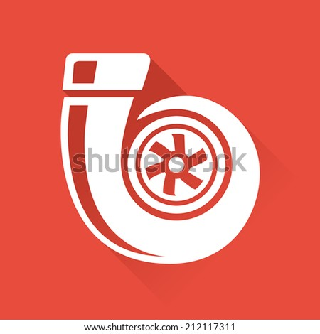 Vehicle Performance Parts - Turbo Icon - stock vector