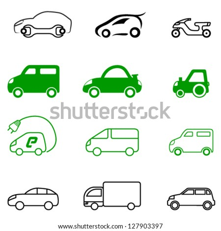vehicle signs - vector illustration