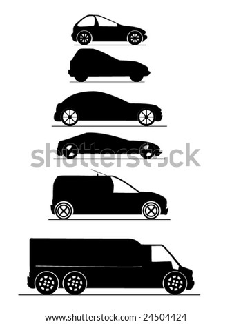 vehicle silhouette - stock vector