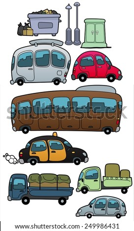 Vehicles-vector - stock vector