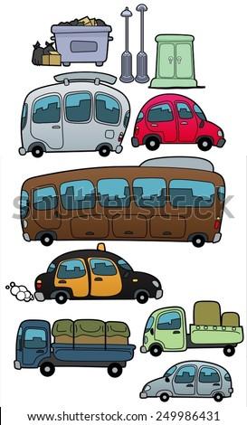 Vehicles-vector - stock vector