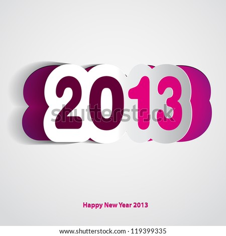 Velvet Happy New Year 2013 vector card - stock vector