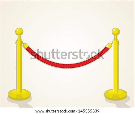 velvet rope - stock vector