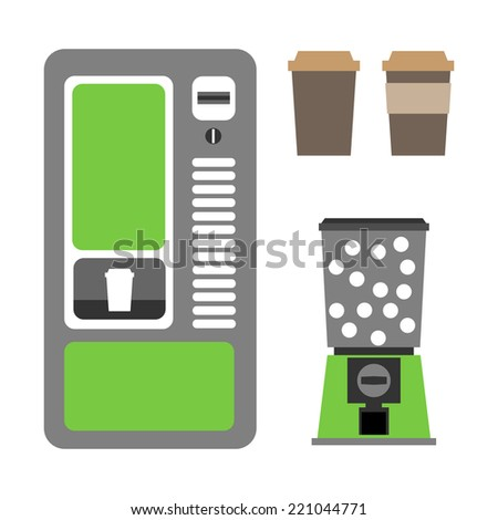 vending machines coffee and mechanical - stock vector
