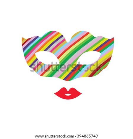 venice mask color mystery illustration - stock vector