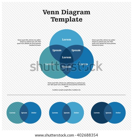 Venn Diagram Template Design Stock-Vektorgrafik 402688354 – Shutterstock
