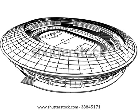 venue for sporting events - stock vector