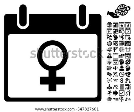 Venus Female Symbol Calendar Day Icon Stock Vector 547827601