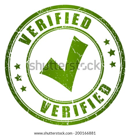 Verified vector stamp - stock vector