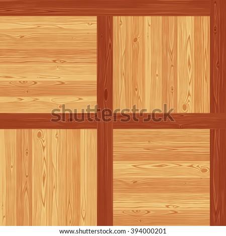 Versailles parquet seamless floor texture. Editable vector pattern in swatches. - stock vector
