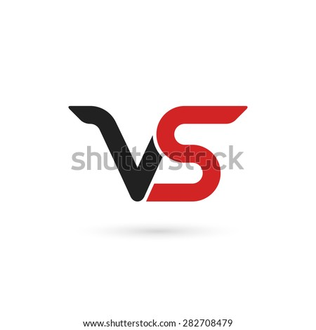 Versus letters logo. Letters V and S, flat style symbol. Isolated on white background. Vector illustration, eps 10. - stock vector