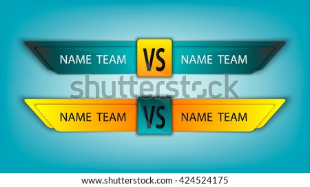 Versus Logo. VS Vector Letters Illustration. Competition Icon. Fight Symbol. Set - stock vector