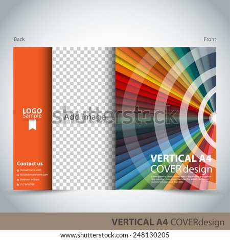 Vertical A4 Cover Design - stock vector