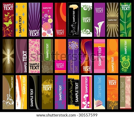 Vertical Banner Collection - stock vector