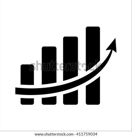 Vertical Bar Graph Diagram Representing Growth Stockvector 411759034