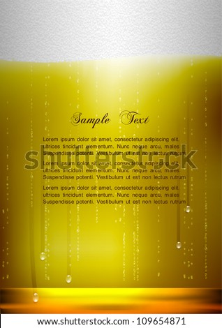 Vertical Beer background. Realistic vector illustration - stock vector