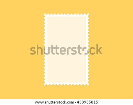 Vertical blank postage stamp, flat design - stock vector