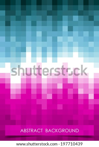 Vertical blue, white and violet mosaic music party background.  Vector version. - stock vector