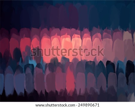 Vertical brush strokes background. Vector version - stock vector