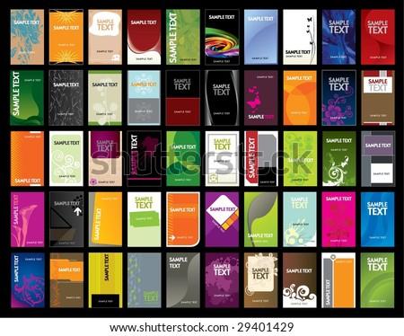 Vertical Business Card - stock vector
