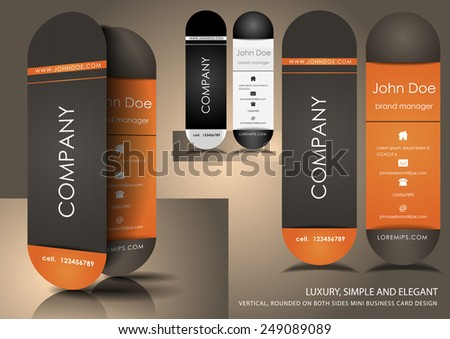 Vertical business cards - stock vector