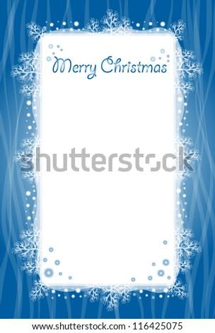 Vertical Christmas card - stock vector