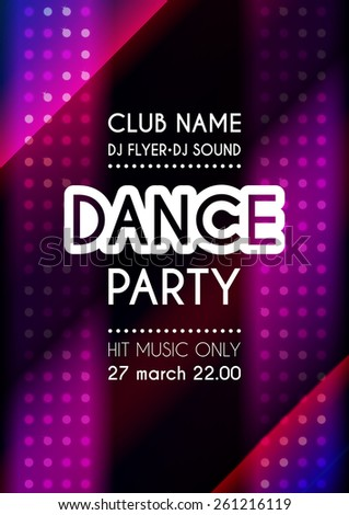 Vertical dance party colorful background with mosaic and place for text.  Vector illustration. - stock vector