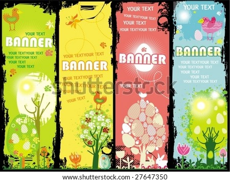 Vertical Easter banners with copy-space. To see similar, please VISIT MY GALLERY.   - stock vector