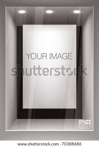 Vertical empty storefront. You can change colors for the background, eps10 vector - stock vector