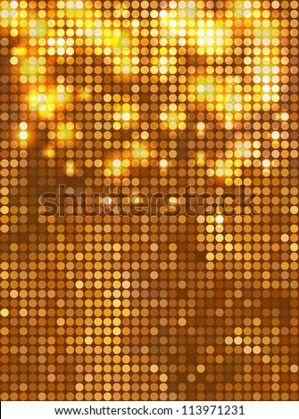 Vertical gold mosaic - stock vector