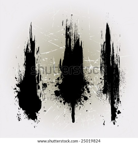 Vertical Grunge line brushes. Check my portfolio for more brushes - stock vector