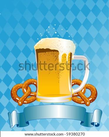 Vertical  Oktoberfest Celebration Background with Copy space. - stock vector