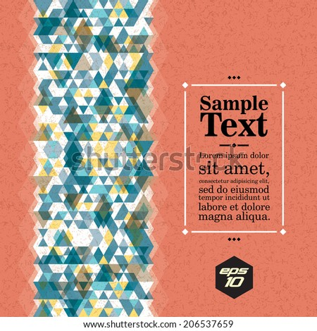 Vertical seamless abstract triangle pattern. Vector background. Geometric texture. Eps 10. - stock vector