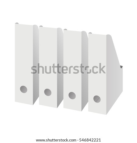 Vertical storage for papers. Paper tray. Archive folders Ikea. Office tools. Isolated  sc 1 st  Shutterstock & Vertical Storage Papers Paper Tray Archive Stock Vector 546842221 ...
