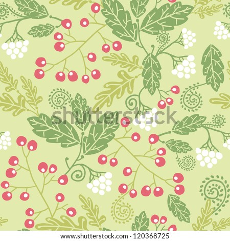 Vertical summer berries seamless pattern background with hand drawn fruit shapes. - stock vector