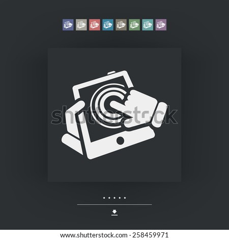 Vertical tablet touch - stock vector