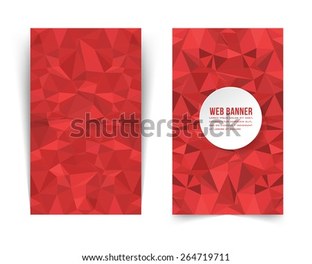 Vertical Web Banner, Card, Background - stock vector